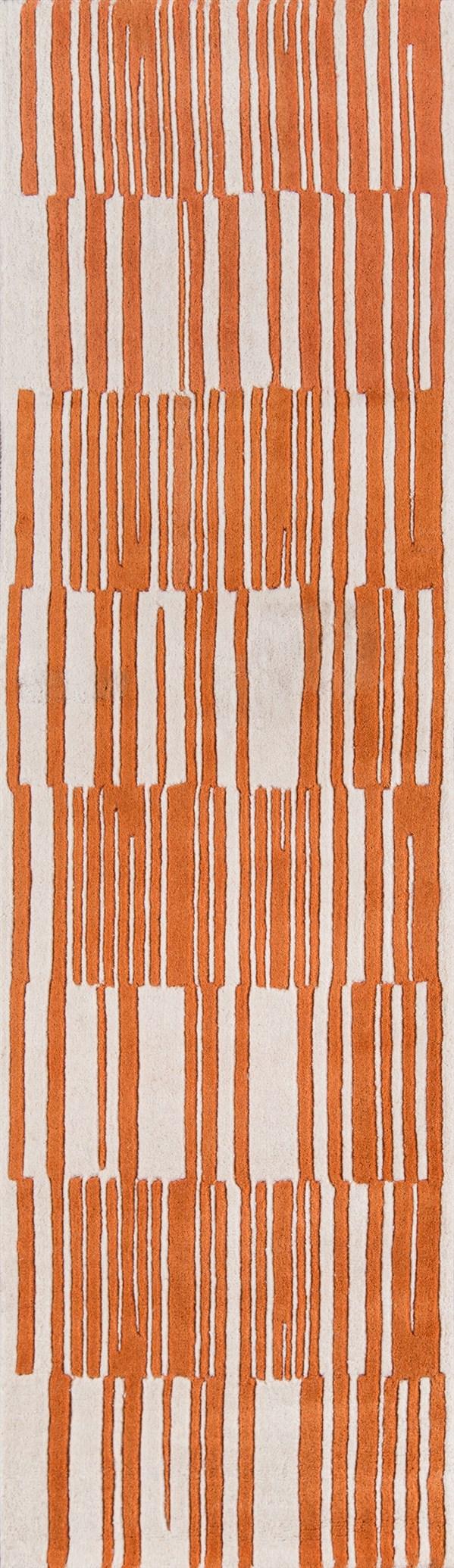 Orange Contemporary / Modern Area Rug