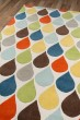 Product Image of Blue, Yellow, Green, Teal Contemporary / Modern Area Rug