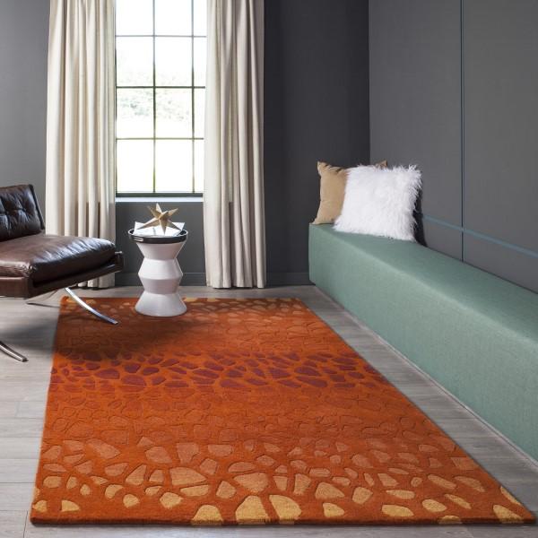 Paprika Contemporary / Modern Area Rug