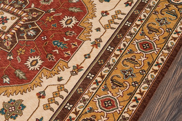 Cocoa Traditional / Oriental Area Rug
