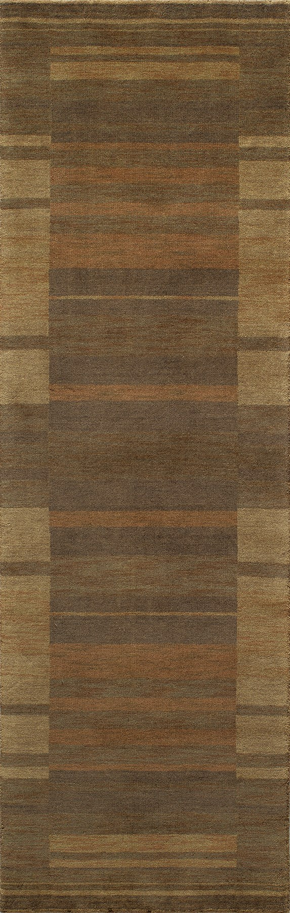 Brown Bordered Area Rug