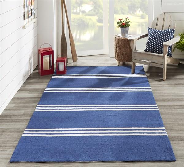 Maritime Blue Outdoor / Indoor Area Rug