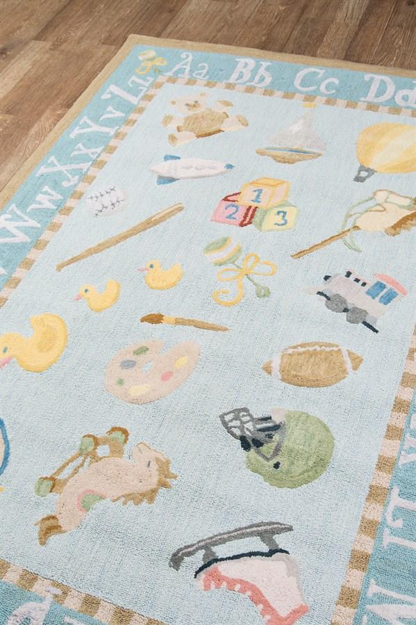Baby Blue Children's / Kids Area Rug