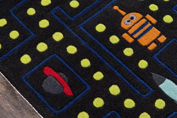 Arcade Black Children's / Kids Area Rug