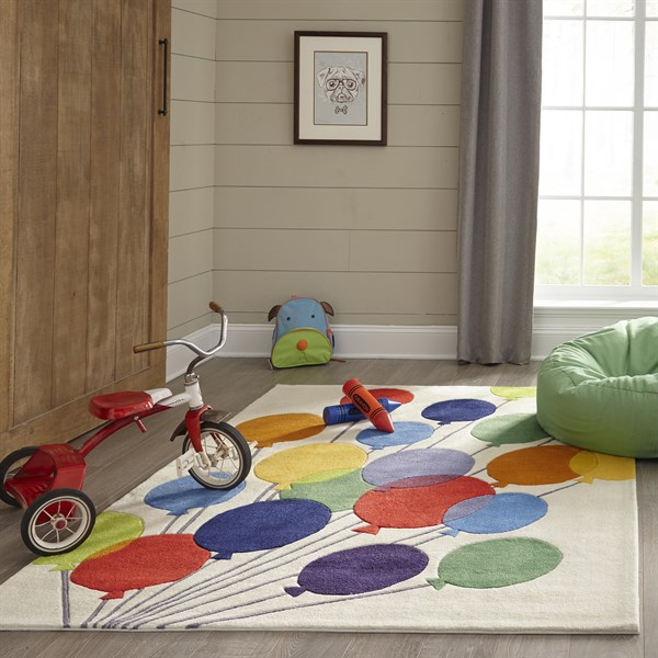 Blue, Green, Red Children's / Kids Area Rug