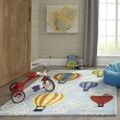 Product Image of Light Blue, Green, Yellow Children's / Kids Area Rug