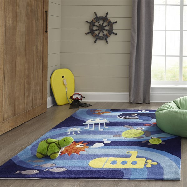 Blue Children's / Kids Area Rug