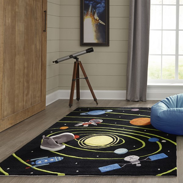 Black Children's / Kids Area Rug
