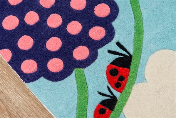 Blue, Pink, Green Children's / Kids Area Rug