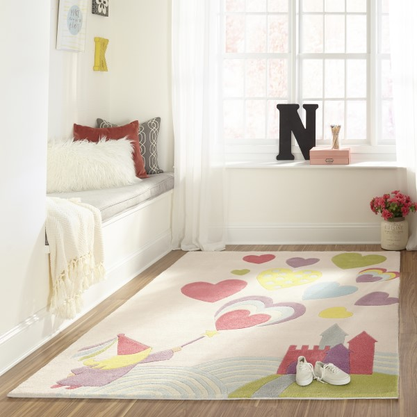 Pink, Blue, Yellow Children's / Kids Area Rug