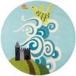 Product Image of Sky Blue, Green, Grey Children's / Kids Area Rug