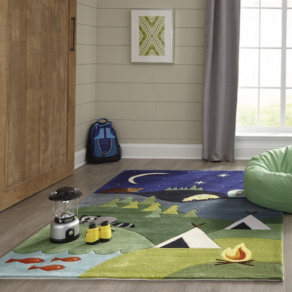 Blue, Green, Yellow Children's / Kids Area Rug