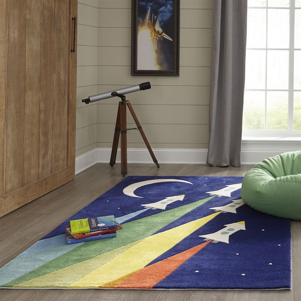 Navy Children's / Kids Area Rug