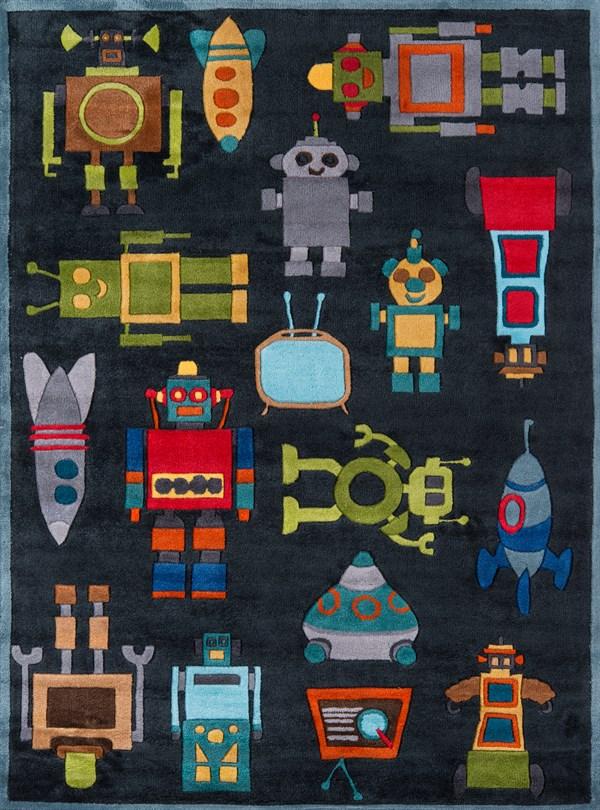 Steel Blue Children's / Kids Area Rug