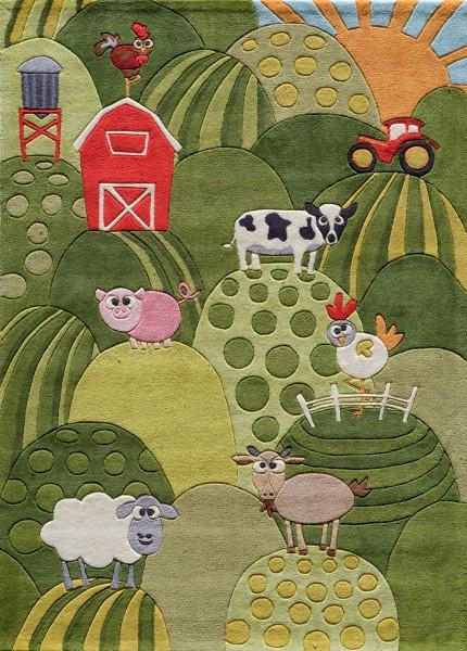 Grass Children's / Kids Area Rug