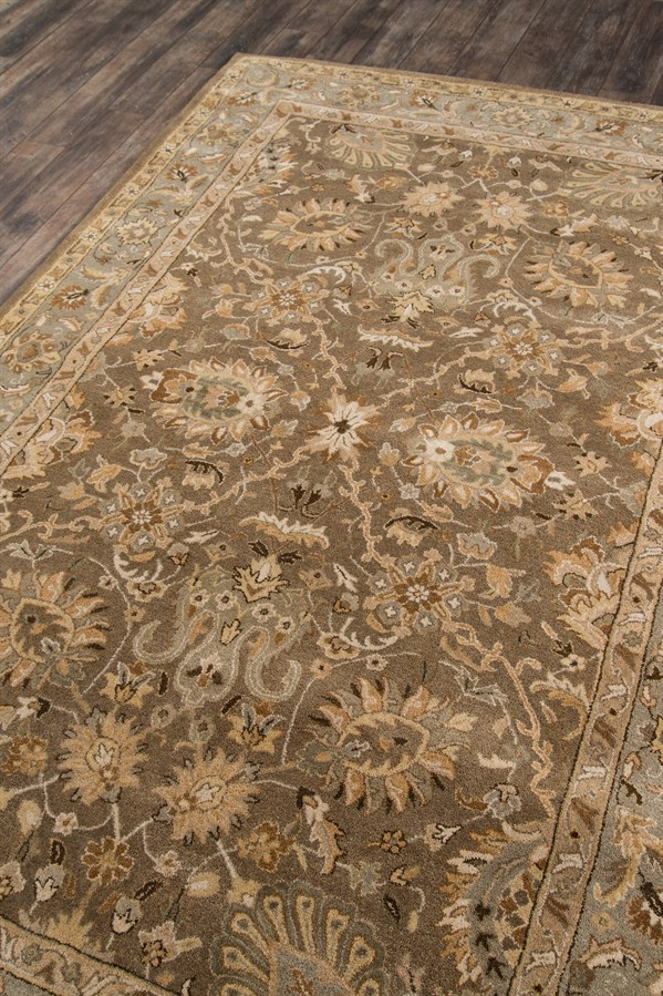Mocha Traditional / Oriental Area Rug