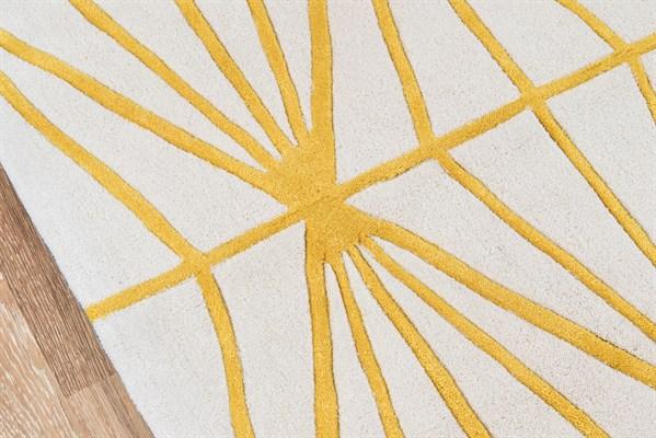 Gold  Contemporary / Modern Area Rug