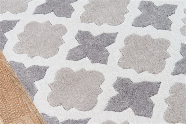 Grey Moroccan Area Rug
