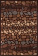 Product Image of Blue, Brown, Dark Sand Contemporary / Modern Area Rug