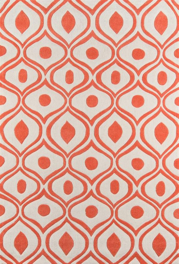 Orange Moroccan Area Rug