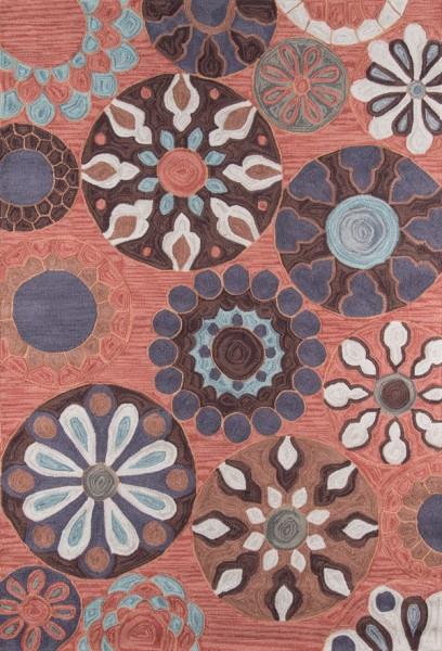 Terracotta Mandala Area Rug
