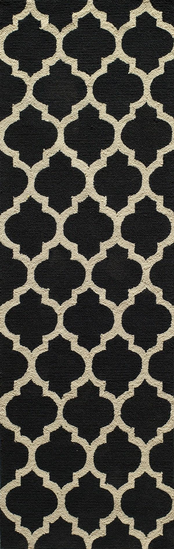 Black Moroccan Area Rug