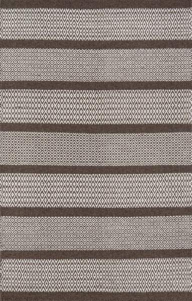 Brown Striped Area Rug