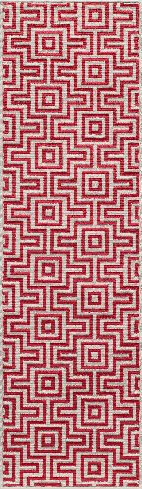 Red Outdoor / Indoor Area Rug