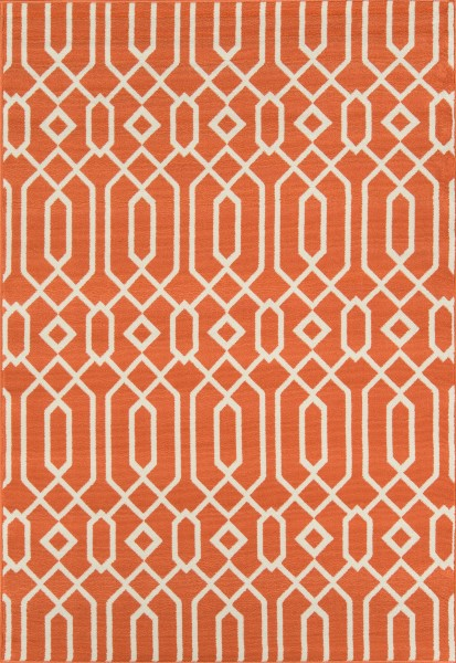 Orange Contemporary / Modern Area Rug