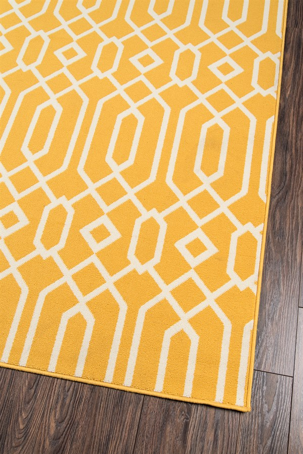 Yellow Outdoor / Indoor Area Rug
