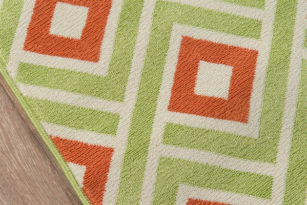 Green Outdoor / Indoor Area Rug