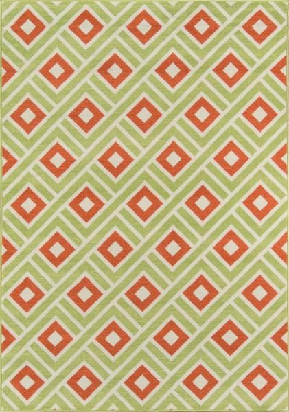 Green Contemporary / Modern Area Rug