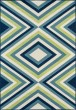 Product Image of Contemporary / Modern Green, Navy, Ivory Area Rug