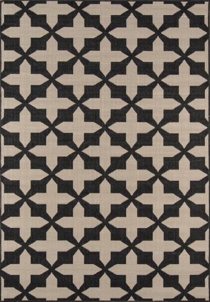 Charcoal Contemporary / Modern Area Rug