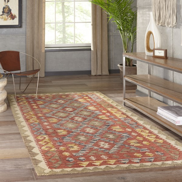 Red Moroccan Area Rug
