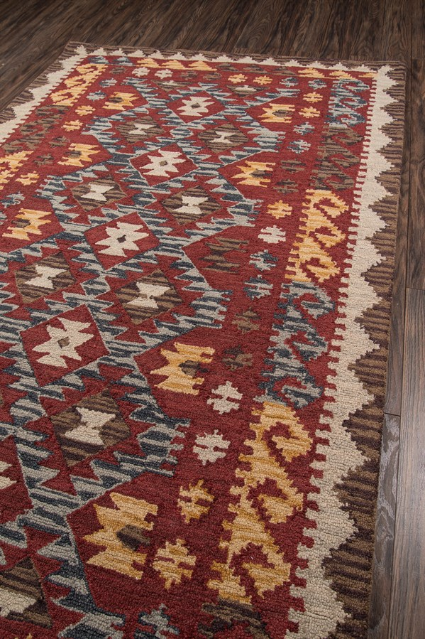 Red Southwestern / Lodge Area Rug