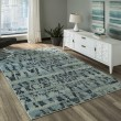Product Image of Ocean Blue Transitional Area Rug