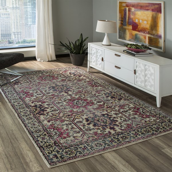 Beige Southwestern / Lodge Area Rug