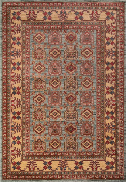 Light Blue Traditional / Oriental Area Rug