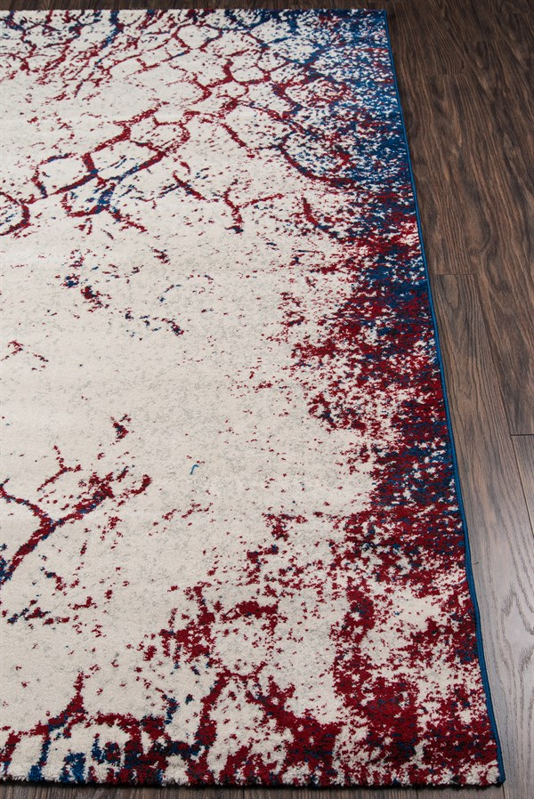 Navy Contemporary / Modern Area Rug