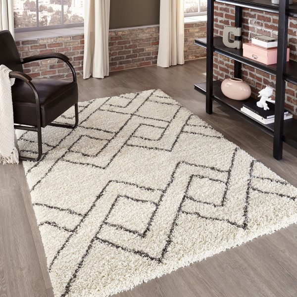 Ivory, Grey Transitional Area Rug