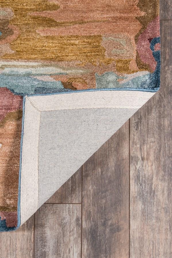 Brown, Blue Contemporary / Modern Area Rug