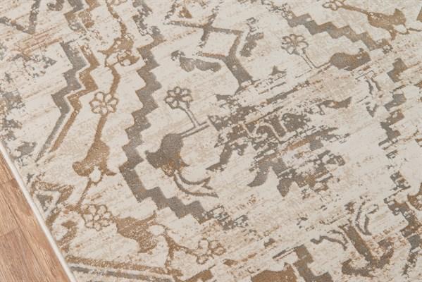Copper Damask Area Rug