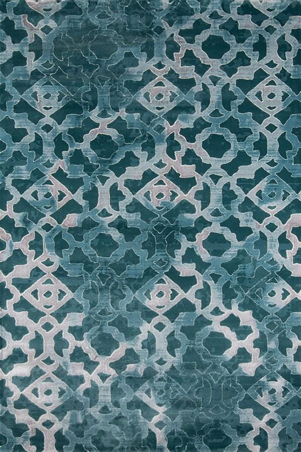 Teal Moroccan Area Rug