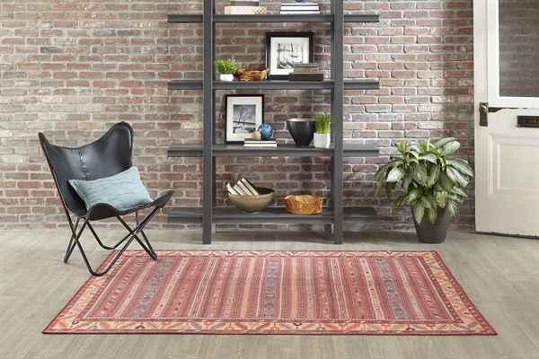 Red, Brown Southwestern / Lodge Area Rug