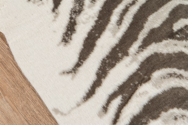 Grey Zebra Animals / Animal Skins Area Rug