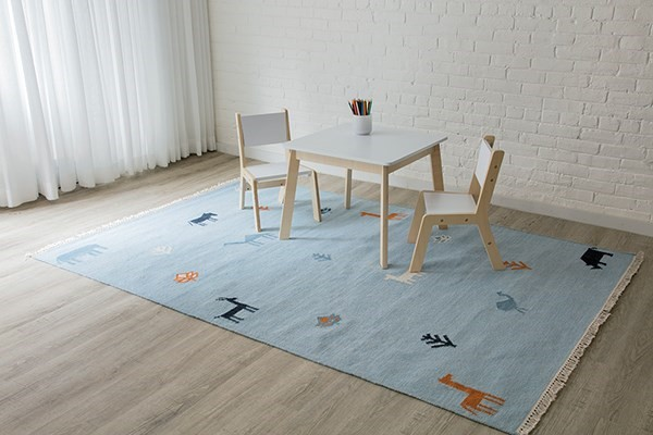 Blue (THO-2) Children's / Kids Area Rug