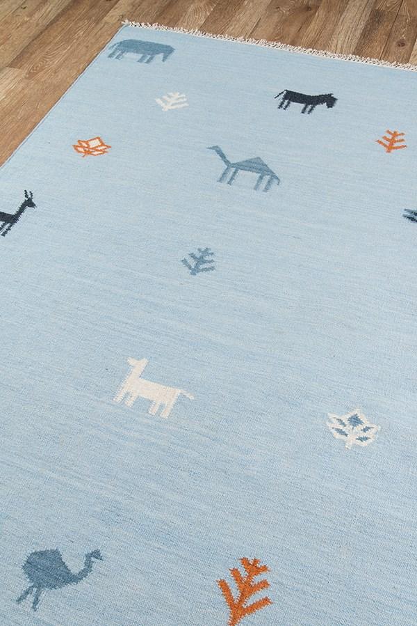 Blue (THO-2) Children's / Kids Area Rug