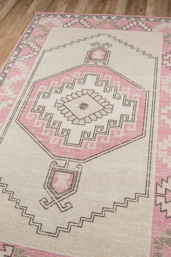 Pink Bohemian Area Rug