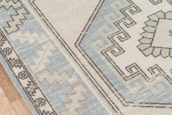 Light Blue Bohemian Area Rug